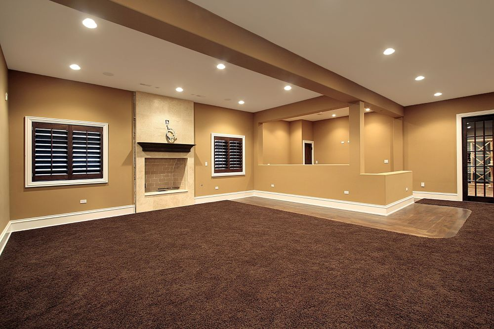 Lower level family room in new construction home